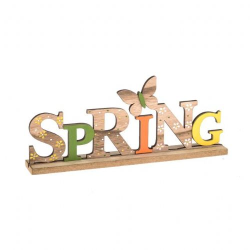 Wooden Spring Plaque Sign